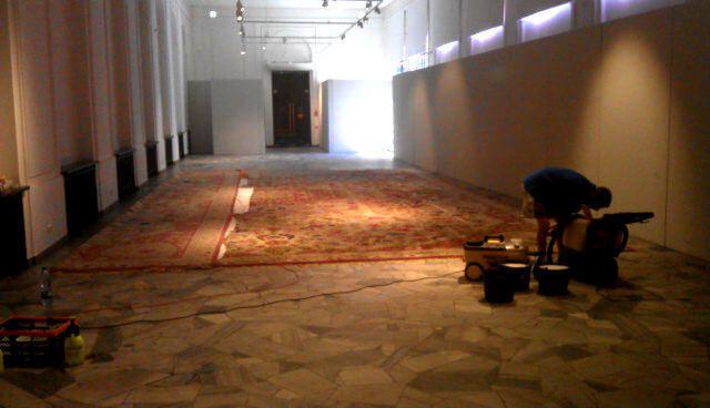 pranie ogromnego dywanu 50m2
